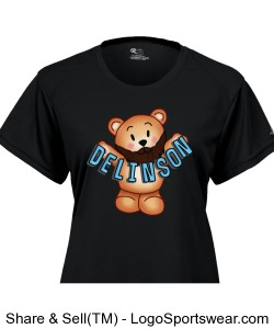 Delinson Ladies B-Dry Core Tee Design Zoom